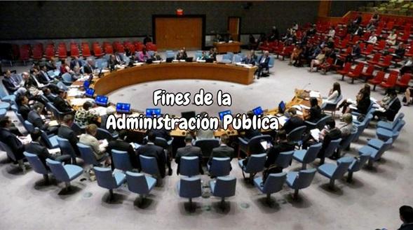 Fines de la administración pública